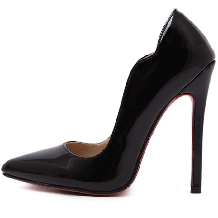 7deb8cee0cf Women Sexy Pointed Toe High Heel Red Bottom Ladies Black Shoes Pumps